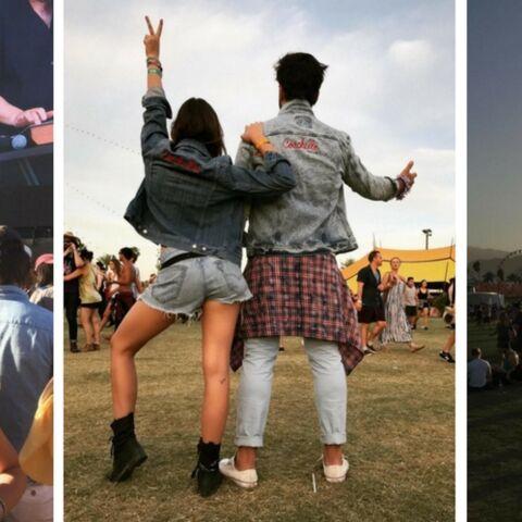 PHOTOS – Pauline Ducruet s'éclate en kimono et mini-short à Coachella