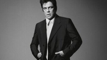 Benicio Del Toro en noir et blanc pour Prada