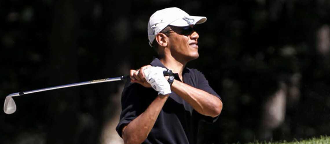 Barack Obama s'offre une partie de golf avec Tiger Woods
