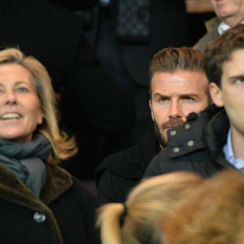 Claire Chazal avec son fils et David Beckham pour supporter le PSG