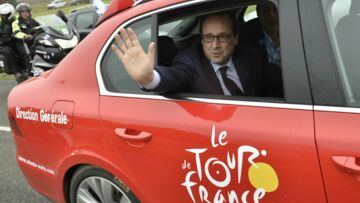 François Hollande en visite sur le Tour de France