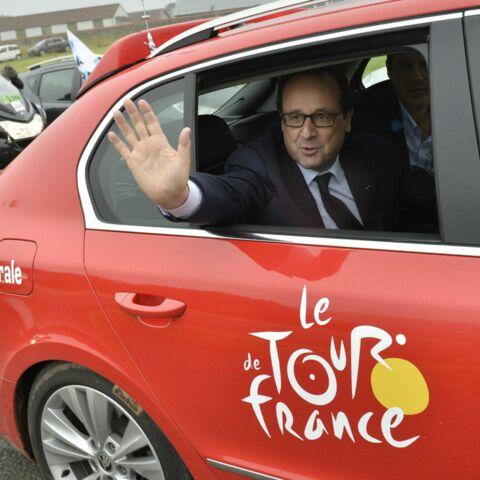 François Hollande en visite sur le Tour de France