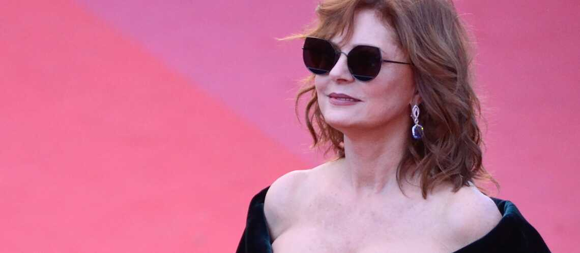 PHOTOS – Susan Sarandon, 70 ans et sexy en jupe en cuir au festival de Cannes