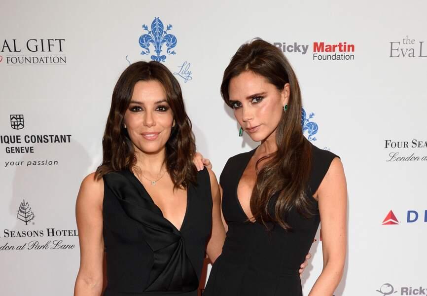 Eva Longoria et Victoria Beckham, deux femmes, deux styles, une silhouette similaire