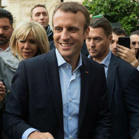 """VIDEO """"Elle est belle"""": le joli compliment d'Emmanuel Macron pour son épouse Brigitte"""