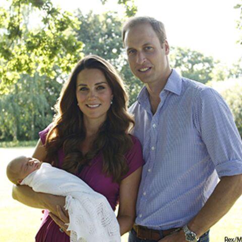 Kate et William: les premières photos officielles du prince George