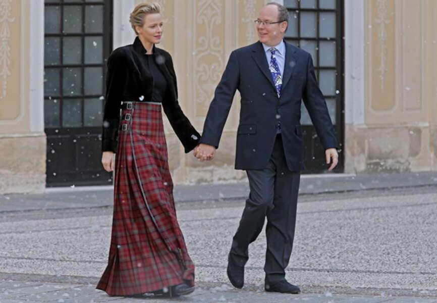 Leurs altesses sérénissimes la princesse Charlène de Monaco et le prince Albert II de Monaco