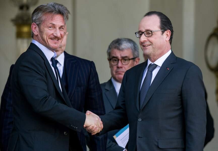 Sean Penn et François Hollande