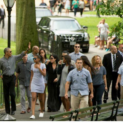 Barack Obama et ses filles en promenade à New York