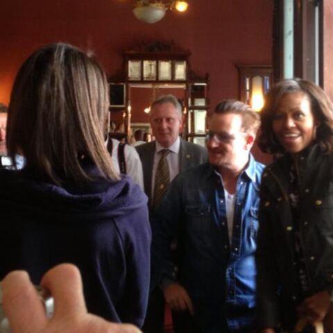 Quand Bono invite Michelle Obama dans un pub