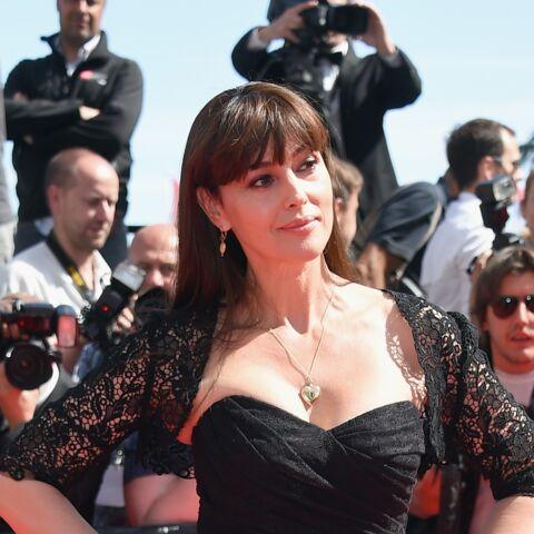 Coiffure de star: la frange de Monica Bellucci à Cannes