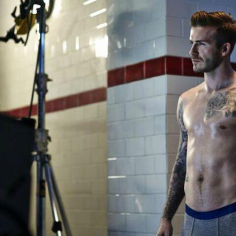 Photos- David Beckham de retour au vestiaire pour H&M