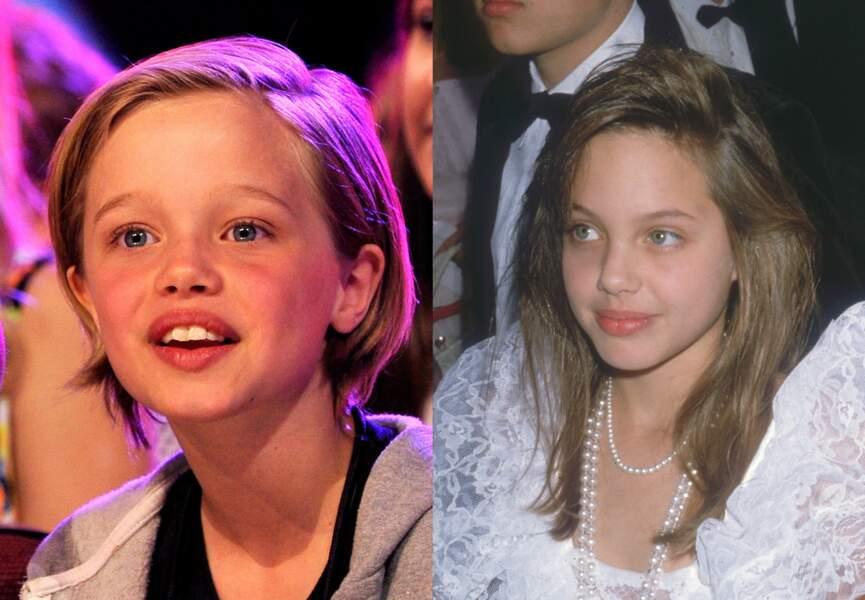 Shiloh est comme un double d'Angelina Jolie au même âge