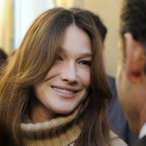 Carla Bruni-Sarkozy en visite à Marrakech avec Giulia
