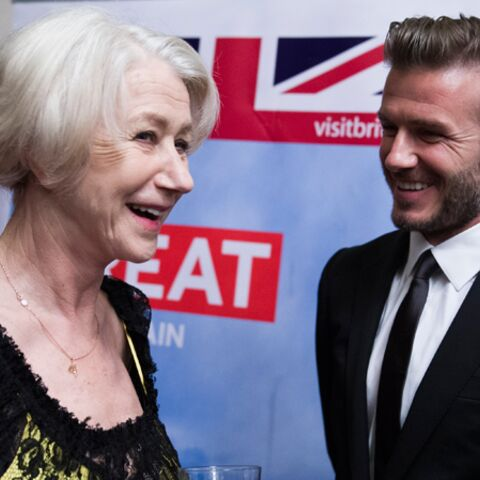 David Beckham, son câlin avec Helen Mirren
