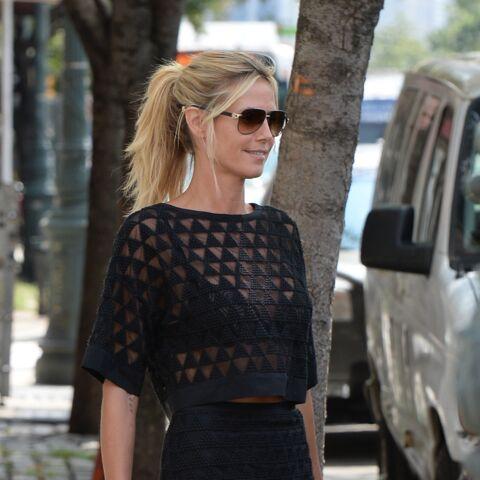 Look – Heidi Klum, une femme en noir