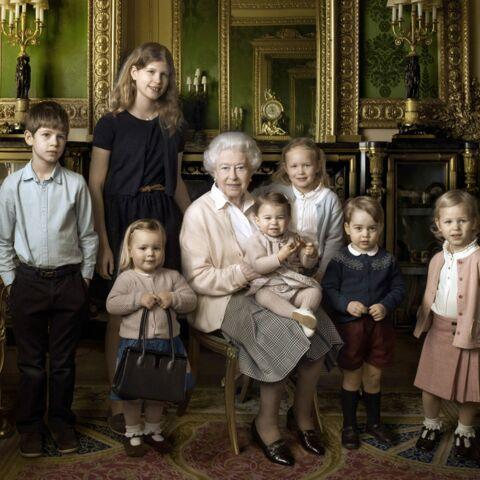 Photos – La reine Elizabeth II entourée de sa descendance