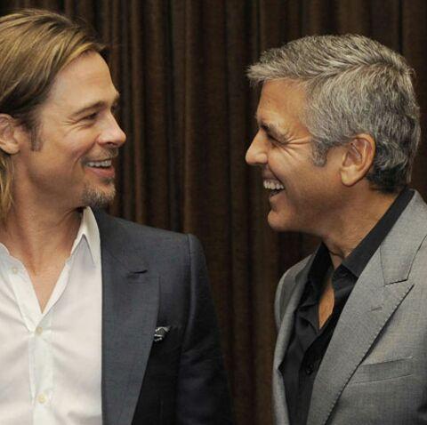 George Clooney et Brad Pitt: leur pari pour les Oscars