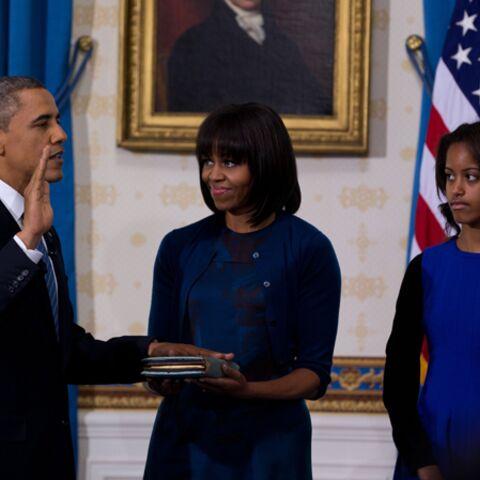 Photos – Michelle Obama en bleu dans la Blue Room