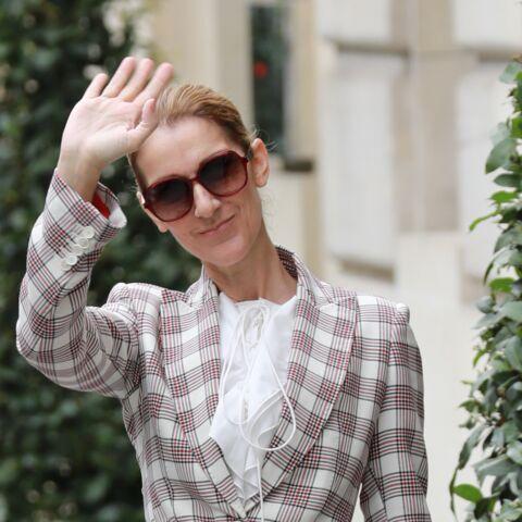PHOTOS – Céline Dion: superbe dans un look garçonne, en smoking à carreaux