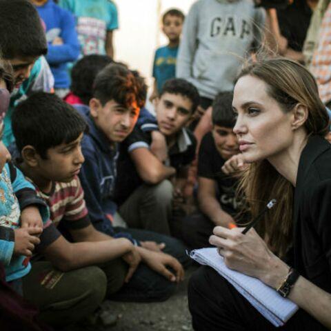 Photos- Angelina Jolie s'engage pour les réfugiés syriens