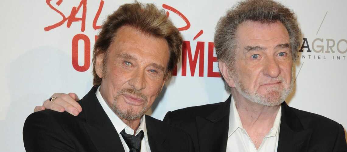 Johnny Hallyday affaibli par son cancer… Heureusement son pote Eddy Mitchell est là
