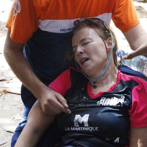 PHOTOS – Valérie Trierweiler prise en charge après un malaise lors du Raid des Alizés