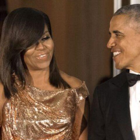 TENDANCE – Michelle Obama, Leïla Bekhti, Jerry Hall… Elles optent pour la robe dorée
