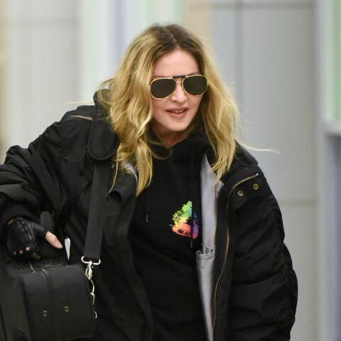 Madonna quitte Londres avec le sourire