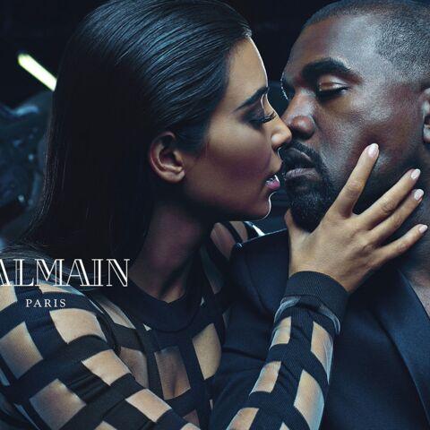 Kim et Kanye West, couple égérie de Balmain