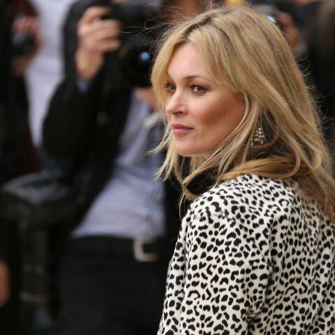 Kate Moss, victime d'une chute à ski