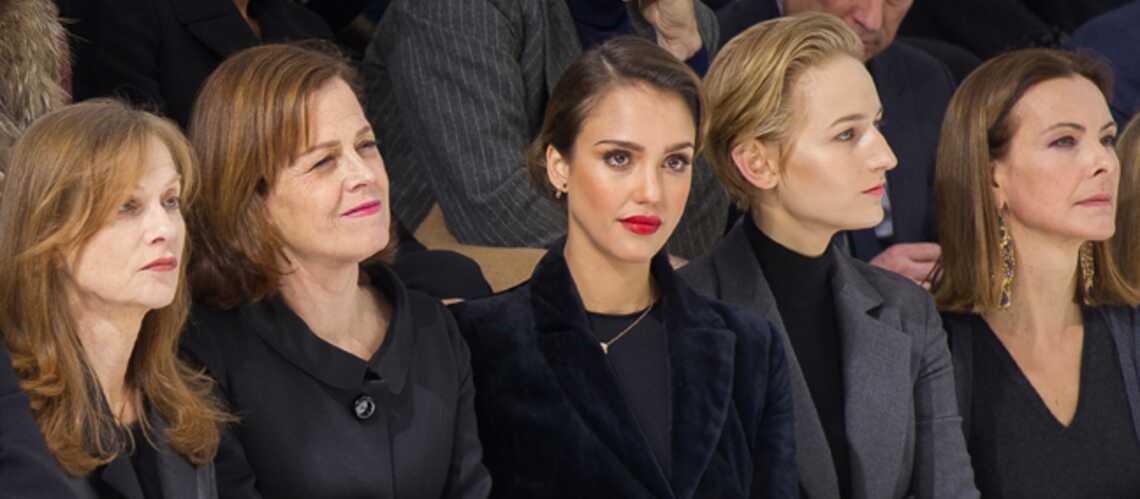 Jessica Alba, Salma Hayek ont bravé la neige pour la mode