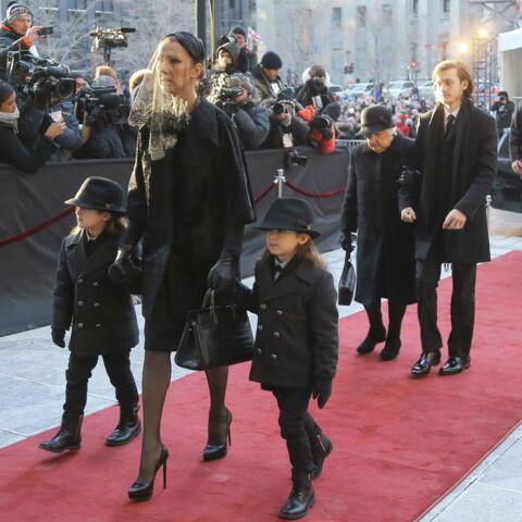 Eddy et Nelson, les jumeaux de Céline Dion, à la cérémonie aux côtés de leur mère