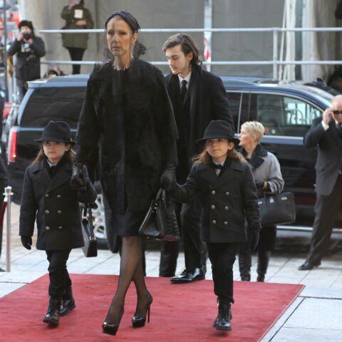 Photos – L'arrivée de Céline Dion et ses fils aux obsèques de René Angélil