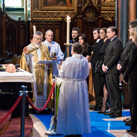 Photos- Le clan Dion-Angélil réuni à la basilique Notre-Dame