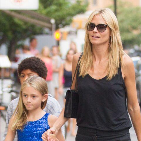 Heidi Klum: sa fille Leni en escarpins