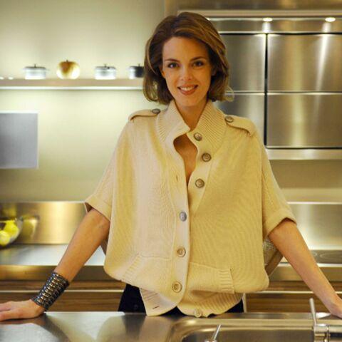 Julie Andrieu, fourchette et ventre rond