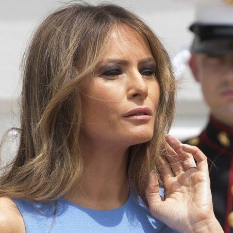 PHOTOS – Melania Trump ultra moulée dans sa robe Michael Kors: la toile spécule sur une grossesse