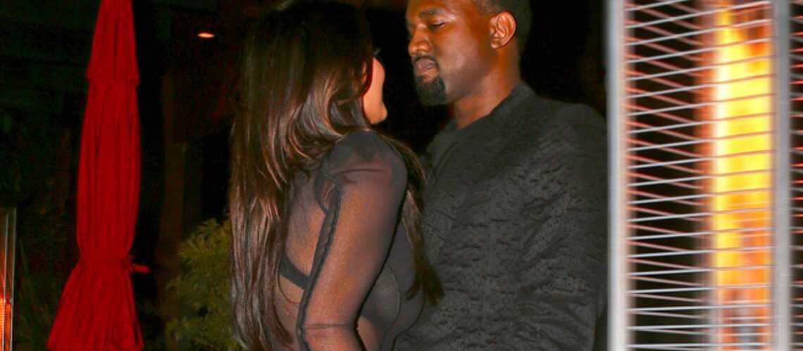 Photos- Kim Kardashian et Kanye West, le bisou