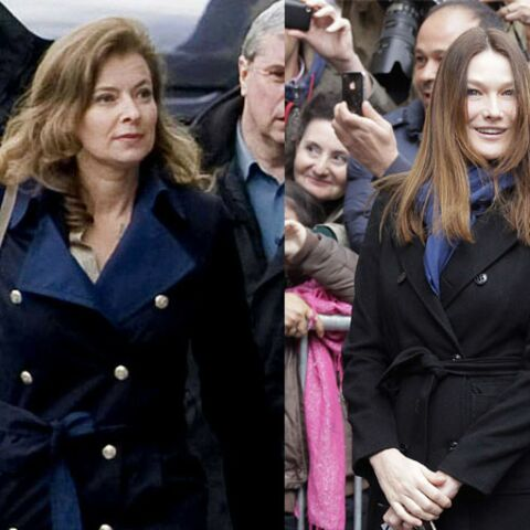 Look: Carla Bruni vs Valérie Trierweiler