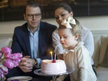 La Princesse Estelle de Suède souffle ses deux bougies