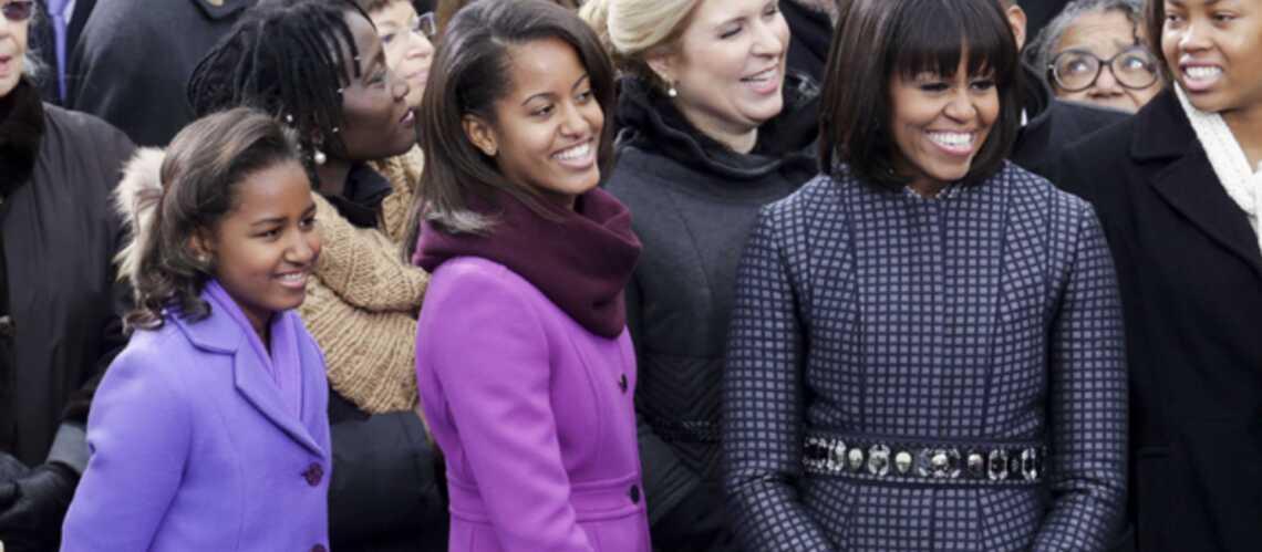 Michelle Obama, Malia et Sasha en mode color block