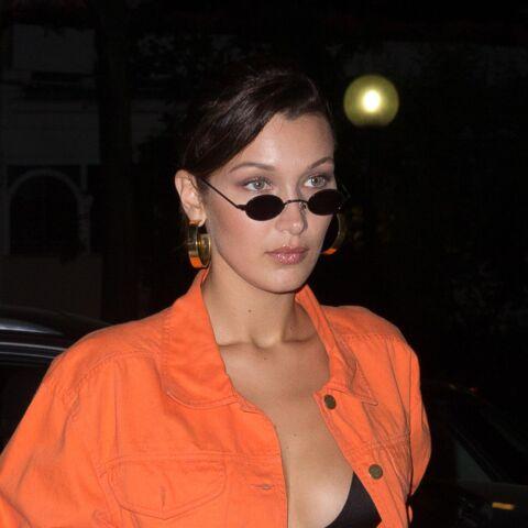 PHOTOS – Bella Hadid, très hot dans les rues de Paris avec sa brassière et ses cuissardes
