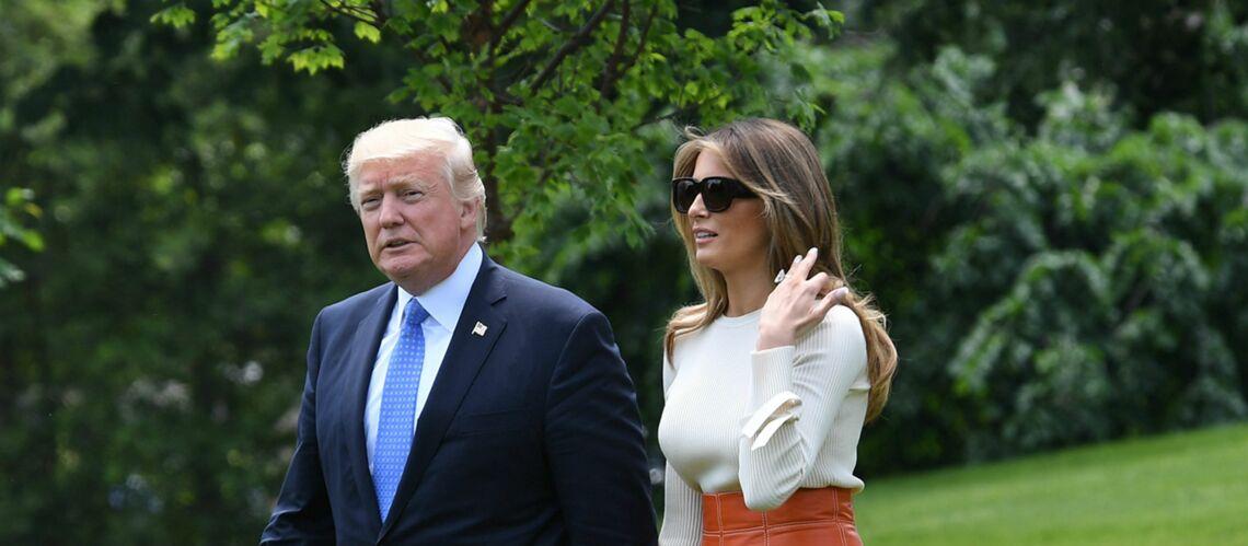 La garde robe très politique de Melania Trump fait jaser