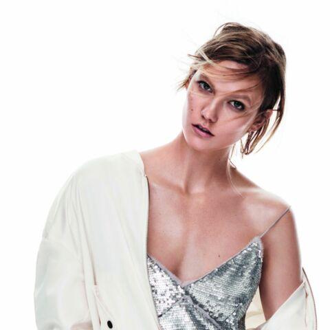 Karlie Kloss, grunge glitter pour Mango