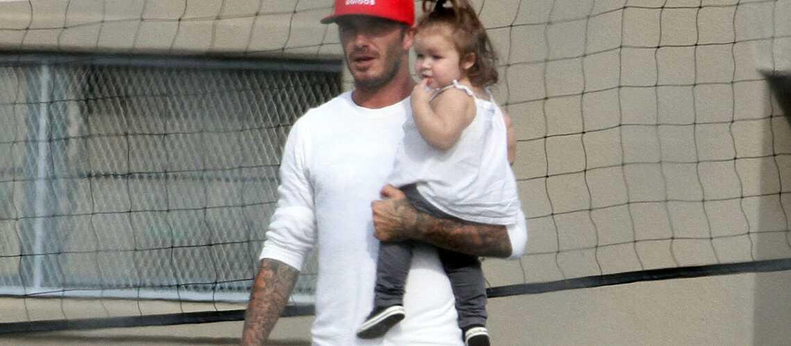 David Beckham emmène Harper au foot
