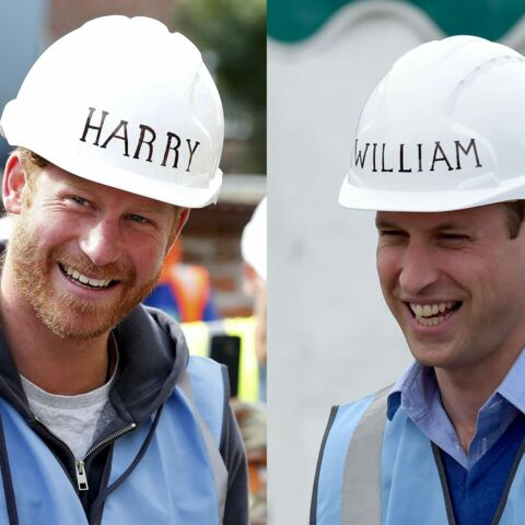 William et Harry au chantier