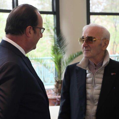 """François Hollande: """"Charles Aznavour est une fierté nationale"""""""
