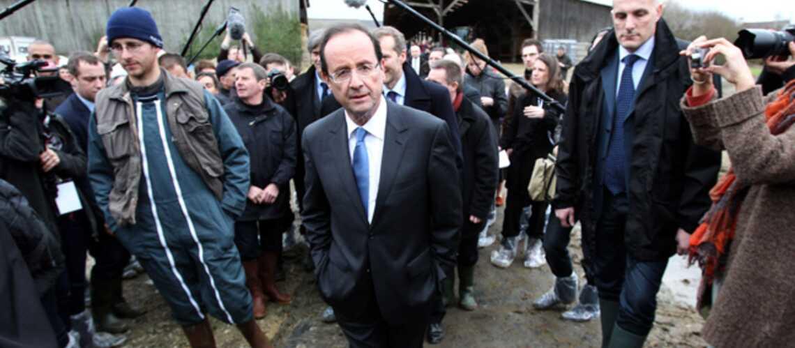Photos – François Hollande en campagne à la campagne