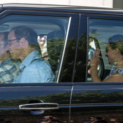 Kate, William et leur fils quittent Kensington